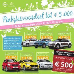 Pinkstervoordeel tot €5.000,-