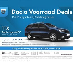 Dacia Logan rijklaar €14.980,-